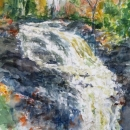 Morrison Brook Waterfall Nancy McLean WC