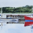 Nancy McLean Watercolours- Inverness Harbour