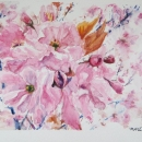 Cherry Blossoms Nancy McLean Watercolours