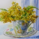 Nancy McLean Watercolours Mom's Teacup