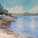 Nancy-McLean-Kings-Point-Shoreline13.5-x8-in-WC