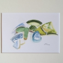 Nancy McLean Watercolours- Fortess of Louisbourg Artefacts #2