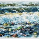 A-Rush-To-Shore-NMclean-Watercolours