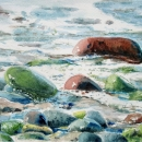 Nancy-McLean-Watercolours-A-Stones-Touch-to-Shore