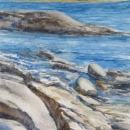 Nancy McLean Watercolours -Rocky Shoreline.JPG